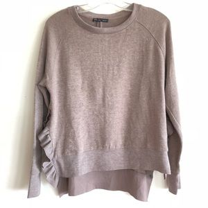 9f621b36d296 ... Zara Ruffle Detail Sweater ...